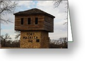 Robyn Stacey Photo Greeting Cards - Fort Washita Oklahoma Entrance Greeting Card by Robyn Stacey
