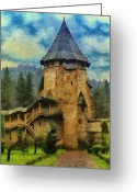 Jeff Kolker Greeting Cards - Fortified Faith Greeting Card by Jeff Kolker