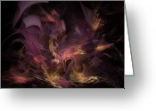 Strength Greeting Cards - Fortress of the Mind - Fractal Art Greeting Card by NirvanaBlues