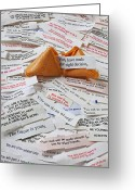 Emotions Greeting Cards - Fortune Cookie Sayings  Greeting Card by Garry Gay