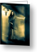 Moonlight Greeting Cards - Fortune Teller Greeting Card by Bob Orsillo