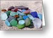 Sea Treasures Greeting Cards - Found on the beach Greeting Card by Janice Drew