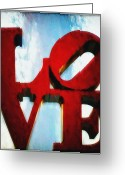 Philadelphia Greeting Cards - Fountain of Love  Greeting Card by Bill Cannon