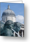 Trafalgar Greeting Cards - Fountains Greeting Card by Andrew  Michael