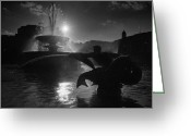Trafalgar Greeting Cards - Fountains of Trafalgar Square Greeting Card by Aldo Cervato