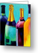 Ireland Greeting Cards - Four Bottles Greeting Card by John  Nolan