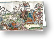 Riders Greeting Cards - Four Horsemen Of The Apocalypse, 1522 Greeting Card by King