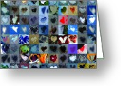 Heart Collage Greeting Cards - Four Hundred Series  Greeting Card by Boy Sees Hearts