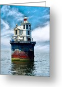 Fourteen Greeting Cards - Fourteen Foot Bank Greeting Card by Nick Zelinsky