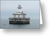 Fourteen Greeting Cards - Fourteen Foot Shoal Light  Greeting Card by Keith Stokes