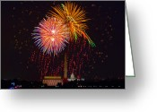 4th July Greeting Cards - Fourth of July Greeting Card by David Hahn