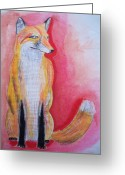 Schiabor Greeting Cards - Fox Greeting Card by Eric  Schiabor