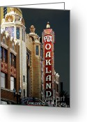 Oakland California Greeting Cards - Fox Theater . Oakland California Greeting Card by Wingsdomain Art and Photography
