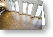 Wood Floors Greeting Cards - Foyer and French Doors Greeting Card by Andersen Ross
