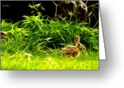 Hare Greeting Cards - Fractal - California Hare - 1925 Greeting Card by James Ahn