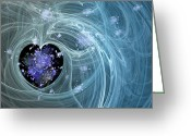 Liquid Greeting Cards - Fractal003 Greeting Card by Svetlana Sewell