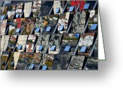 Guggenheim Museum Greeting Cards - Fragmented Guggenheim Museum Bilbao Greeting Card by RicardMN Photography