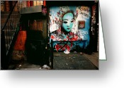 Nyc Graffiti Greeting Cards - Fragments - Street Art - New York City Greeting Card by Vivienne Gucwa