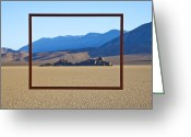 Natural Formations Greeting Cards - Framed Area of Desert Greeting Card by David Buffington