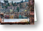 Tonemapped Greeting Cards - Framed in Seattle Greeting Card by Spencer McDonald