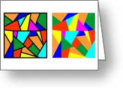 Trick Greeting Cards - Framing Colour Illusion Greeting Card by