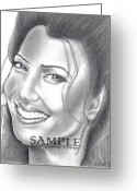Flyers Drawings Greeting Cards - Fran Drescher Greeting Card by Rick Hill