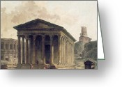 Hubert Greeting Cards - FRANCE: ROMAN RUINS, c1760 Greeting Card by Granger
