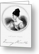 Autograph Greeting Cards - Frances Anne Kemble Greeting Card by Granger
