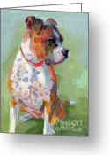 Boxer Greeting Cards - Frances Greeting Card by Kimberly Santini