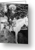 Men Greeting Cards - Francisco Pancho Villa Greeting Card by Granger