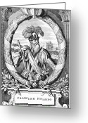 Pisarro Greeting Cards - Francisco Pizarro, Spanish Explorer Greeting Card by Cci Archives