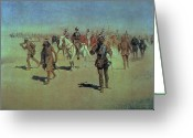Remington Greeting Cards - Francisco Vasquez de Coronado Making his Way Across New Mexico Greeting Card by Frederic Remington