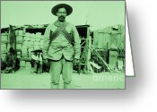 Del Norte Greeting Cards - Francisco Villa Greeting Card by Pg Reproductions