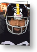 Pittsburgh Steelers Greeting Cards - Franco Greeting Card by David Bearden