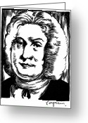 Autograph Greeting Cards - Francois Couperin Greeting Card by Granger