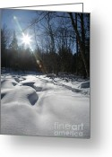 Grafton County Greeting Cards - Franconia Brook - Lincoln New Hampshire  Greeting Card by Erin Paul Donovan