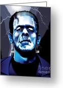 Frankenstein Greeting Cards - Frank Greeting Card by Brian Gibbs