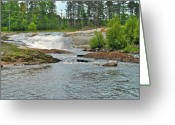 Hydroelectric Greeting Cards - Frank J Russel falls 2 Greeting Card by Michael Peychich