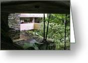 Chuck Kuhn Photography Greeting Cards - Frank Lloyd Wright Falling Water Greeting Card by Chuck Kuhn