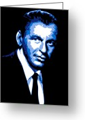 Mob Greeting Cards - Frank Sinatra Greeting Card by Dean Caminiti