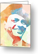 Frank Sinatra Greeting Cards - Frank Sinatra Greeting Card by Irina  March
