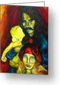 Portrait Specialist Greeting Cards - Frank Zappa   Greeting Card by Carole Spandau