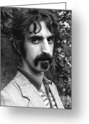 Rock And Roll Glass Greeting Cards - Frank Zappa 1970 Greeting Card by Chris Walter