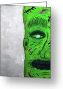Mary Shelley Greeting Cards - Frankensteenes Munster  Greeting Card by Shawn Ballard