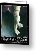 Mary Shelley Greeting Cards - Frankenstein... Greeting Card by Will Bullas