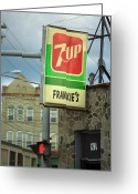 Street Greeting Cards - Frankies Tavern - Binghamton New York Greeting Card by Frank Romeo