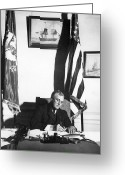 Democrat Party Greeting Cards - Franklin D. Roosevelt, 32nd American Greeting Card by Omikron