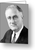 Fdr Greeting Cards - Franklin Delano Roosevelt Greeting Card by War Is Hell Store