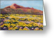 Flowers Pastels Greeting Cards - Franklin Poppies Greeting Card by Candy Mayer