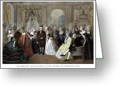 Founding Fathers Painting Greeting Cards - Franklins Reception At The Court Of France Greeting Card by War Is Hell Store